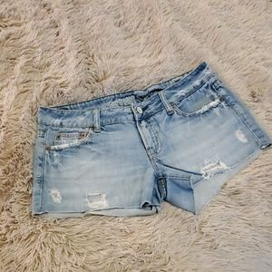 Distressed American Eagle jean shorts size 8